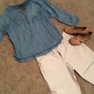 Lee stretch khakis, modern curvy fit, 16 petite